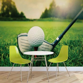 Golf Ball Club Fotobehang