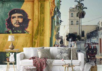 Grafitti En La Habana Vieja Fotobehang