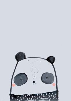 Inky line panda Fotobehang