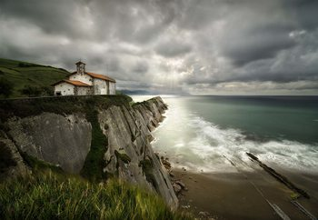 Itzurun Beach And Chapel Of San Telmo Fotobehang