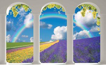Lavendar Field Nature Arches Fotobehang