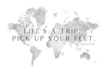 Life's a trip world map Fotobehang