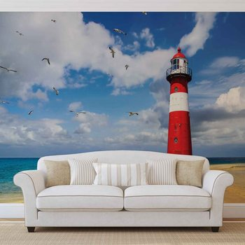 Lighthouse Beach Fotobehang