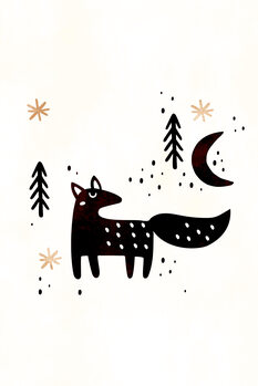 Little Winter Fox Fotobehang