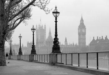 LONDEN - LONDON - fog Fotobehang