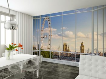 Londen - venster Fotobehang