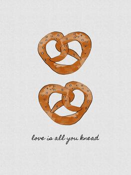 Love Is All You Knead Fotobehang