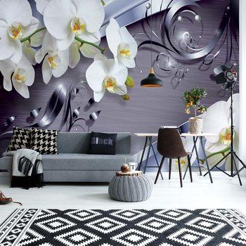 Luxury Ornamental Design Orchids Fotobehang