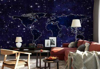 Map And Stars Fotobehang