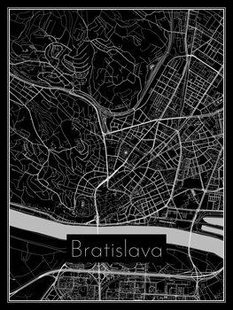 Map of Bratislava Fotobehang