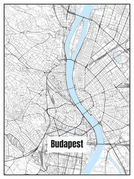 Map of Budapest Fotobehang