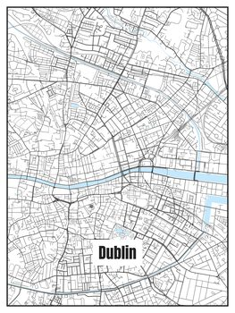 Map of Dublin Fotobehang