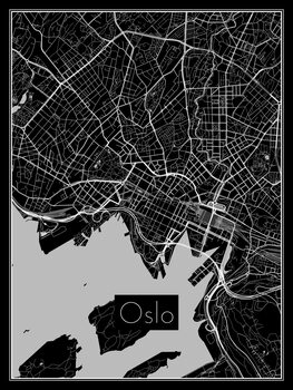 Map of Oslo Fotobehang