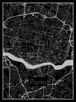 Map of Porto Fotobehang