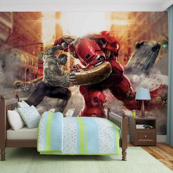 Marvel Avengers Fighting Allies Fotobehang