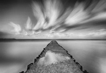 Melancholic Pier Fotobehang
