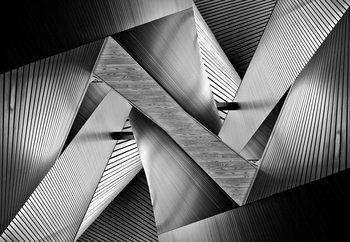 Metal Origami Fotobehang