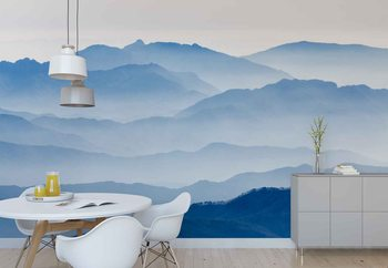 Misty Mountains Fotobehang