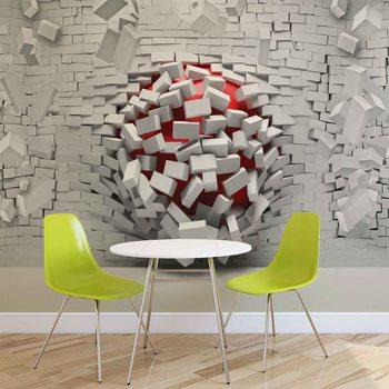 Modern Abstract Brick Wall Fotobehang