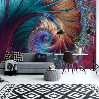 Modern Abstract Spiral Design Fotobehang