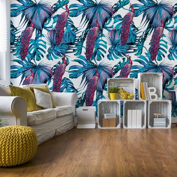 Modern Tropical Pattern Fotobehang