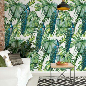 Modern Tropical Pattern Fotobehang