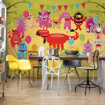 Monsters Party Fotobehang