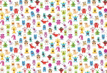 Monsters Pattern Fotobehang