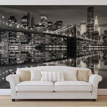 New York City Skyline Brooklyn Bridge Fotobehang