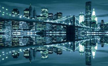 New York  Skyline Brooklyn Bridge Fotobehang