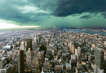 New York Under Storm Fotobehang