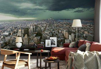 New York Under Storm Fotobehang