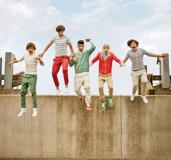 Fotobehang One Direction - Jump