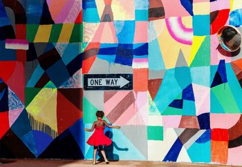 One Way Fotobehang