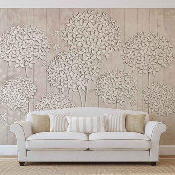 Pattern Flowers Fotobehang