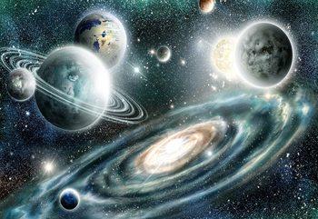 Planets In Space Fotobehang