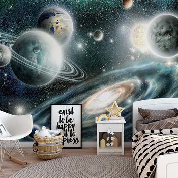Planets In Space Fotobehang