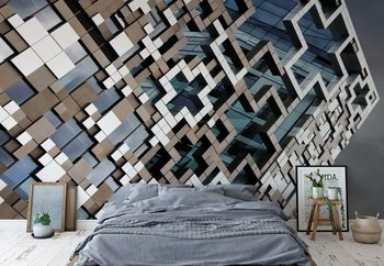 Puzzle Facade Fotobehang