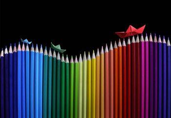 Rainbow Storm Fotobehang