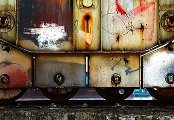 Rusty Train Fotobehang