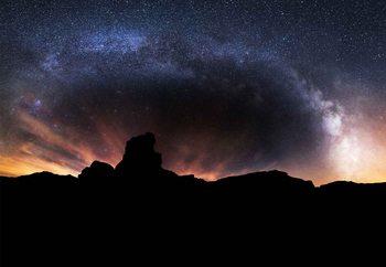 Silhouette Sky Fotobehang