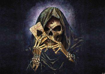 Skull Death Ace Alchemy Fotobehang