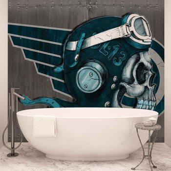 Skull Flying Tattoo Fotobehang