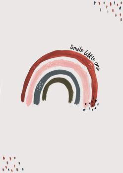 Smile little one rainbow portrait Fotobehang