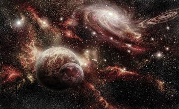 Space Planets Fotobehang
