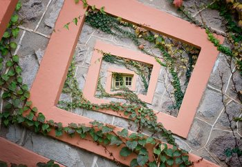 Spiral Window Fotobehang