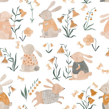 Spring Bunnies Fotobehang