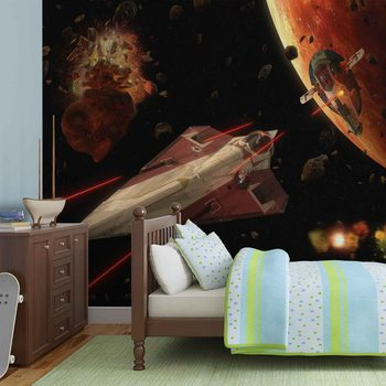 Star Wars Slave I Craft Fotobehang