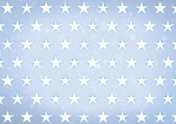 Stars Pattern Blue Fotobehang