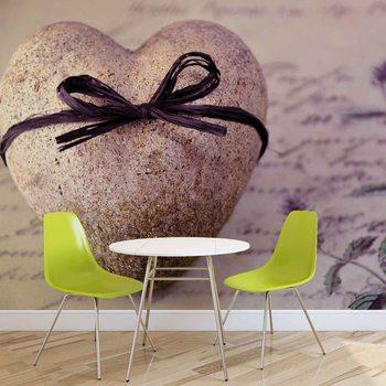 Stone Heart Flower Tie Fotobehang